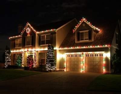 Garage Doors Holiday Decoration